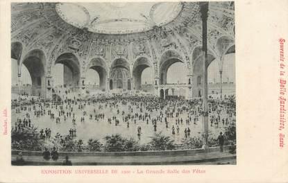 """CPA FRANCE 75 """"Paris, Exposition universelle 1900, La grande salle des fêtes"""" / PUBLICITE BELLE JARDINIERE"""