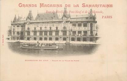 """CPA FRANCE 75 """"Paris, Exposition universelle 1900, Palais de la Ville de Paris"""" / PUBLICITE SAMARITAINE"""