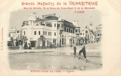 "CPA FRANCE 75 ""Paris, Exposition universelle 1900, Algérie"" / PUBLICITE SAMARITAINE"
