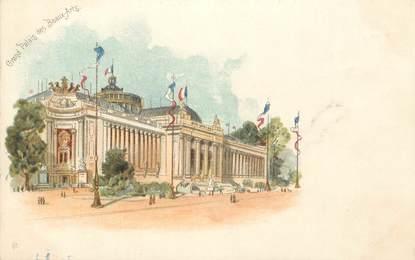 """CPA FRANCE 75 """" Paris, Exposition Universelle 1900, Grand Palais des Beaux Arts"""" / PUBLICITE CREME EXPRESS"""