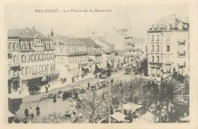"""CPA FRANCE 90 """" Belfort, La Place de la Bascule"""""""
