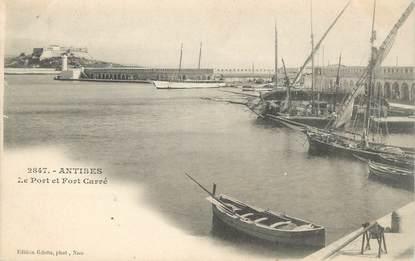 """CPA FRANCE 06 """"Antibes, Le port et le Fort Carré"""""""