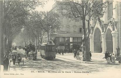 "CPA FRANCE 06 ""Nice, Avenue de la Gare - Notre Dame"" / TRAMWAY"