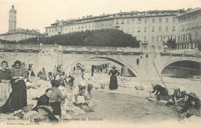 """CPA FRANCE 06 """"Nice, Les blanchisseuses du Paillon"""""""