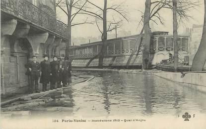 """/ CPA FRANCE 75004 """"Paris Venise"""" / INONDATIONS 1910"""
