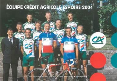 """CPSM CYCLISME """"Equipe Crédit Agricole Espoirs 2004"""""""