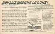 """Theme CPA CHANSON ENFANTINE """" Bonsoir Madame la Lune"""""""