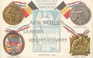 """Militaire CPA MILITAIRE PATRIOTIQUE """" Souvenir des Journées Françaises 1915"""""""