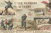 """Militaire CPA MILITAIRE PATRIOTIQUE """" Les refrains du front"""""""