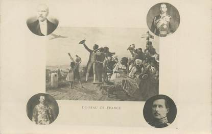 "CARTE PHOTO MILITAIRE PATRIOTIQUE "" L'Oiseau de France"""