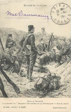 """CPA MILITAIRE """" Soldats pendant la guerre de 1914-1915 dans la tranchée"""""""