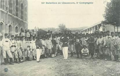 """CPA MILITAIRE """" Bataillon de Chasseurs 2ème compagnie"""""""