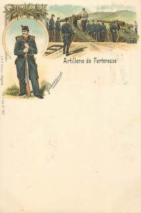 """CPA MILITAIRE """" Artillerie de forteresse"""""""