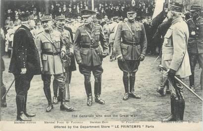 """CPA MILITAIRE """" Les Maréchaux et généraux"""""""
