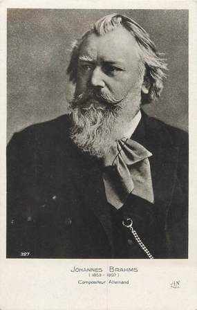 """CPA MUSIQUE / COMPOSITEUR """" Johannes Brahms"""""""