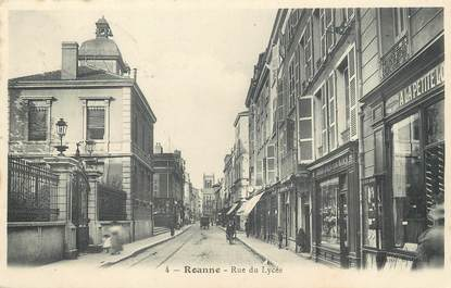 "/ CPA FRANCE 42 ""Roanne, rue du Lycée"""