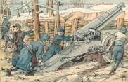 """Militaire CPA MILITAIRE FRANCE 88 """" Les Vosges"""" / ARTILLERIE LOURDE"""