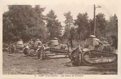 """CPA MILITAIRE FRANCE 72"""" Camp d'Auvours, Les chars de combat"""" / CHARS"""