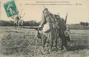 """Militaire CPA MILITAIRE """" Soldats d'infanterie actionnant une mitrailleuse"""" / MITRAILLEUSE"""