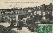 """07 Ardeche CPA FRANCE 07 """"Ruoms, le pont sur l'Ardèche à l'entrée de la ville"""""""