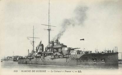 """CPA BATEAUX MILITAIRES """"Le Cuirassé France"""""""