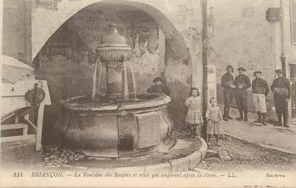 """CPA FRANCE 05 """"Briançon, la Fontaine des Soupirs """""""