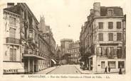 """16 Charente / CPA FRANCE 16 """"Angoulême, rue des Halles Centrales et l'hôtel de ville"""""""
