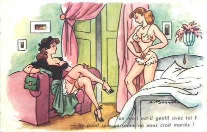 CPA ILLUSTRATEUR BONNOTTE / FEMME