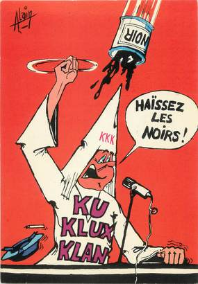 "CPSM ILLUSTRATEUR ALAIN "" Kukluxklan"""