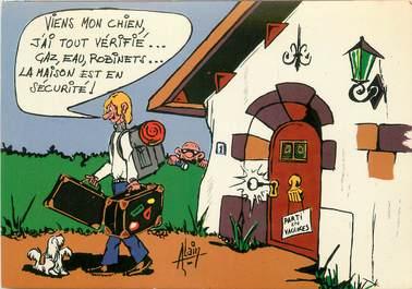"""CPSM ILLUSTRATEUR ALAIN """"Les vacances"""""""