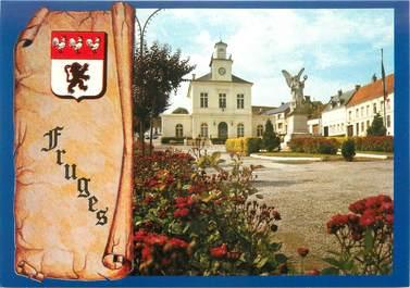 """CPSM FRANCE 62 """" Frugues, Grand-Place - l'Hotel de ville"""