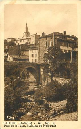 "CPA FRANCE 07 ""Satillieu, ruisseau du Malpertuis"""