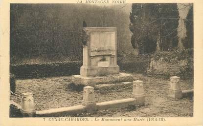 "CPA FRANCE 11 ""Cuxac Cabardes, le monument aux morts"""