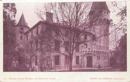 """CPA FRANCE 11 """"Chateau Grand Condom par Narbonne"""""""
