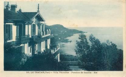 "CPA FRANCE 83 ""Le Trayas, villa Véronèse, pension de famille"""