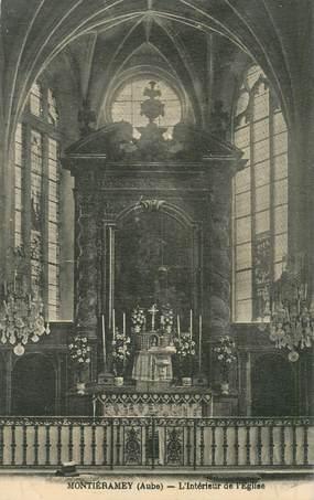 """CPA FRANCE 10 """"Montiéramey, intérieur de l'Eglise"""""""