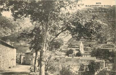 """CPA FRANCE 07 """"Saint Laurent les Bains"""""""