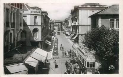 "CPSM FRANCE 74 ""Annemasse, rue de la gare"" / TRAMWAY"