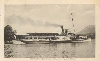 "CPA FRANCE 74 ""Annecy, bateau France"""