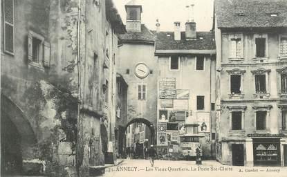 """CPA FRANCE 74 """"Annecy, les vieux quartiers, la Porte Sainte Claire"""""""