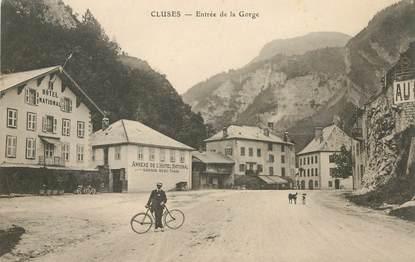 """CPA FRANCE 74 """"Cluses, entrée de la Gorge"""""""