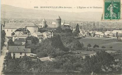 """CPA FRANCE 74 """"Bonneville, l'église et le chateau"""""""
