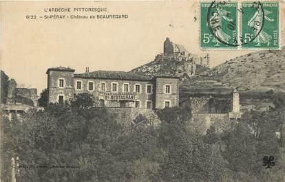 "CPA FRANCE 07 ""Saint Péray, Château de Beauregard"""