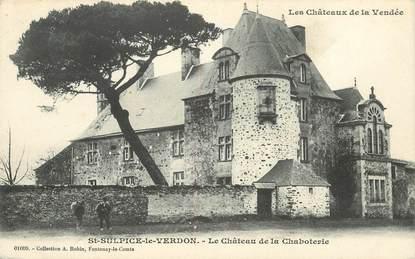 """CPA FRANCE 85 """"Saint Sulpice le Verdon, le chateau de la Chaboterie"""""""
