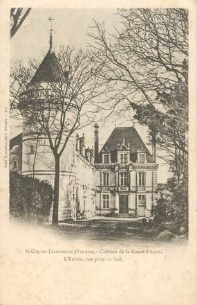 """CPA FRANCE 85 """"Saint Cyr en Talmondais, chateau de la Court d'Aron"""""""