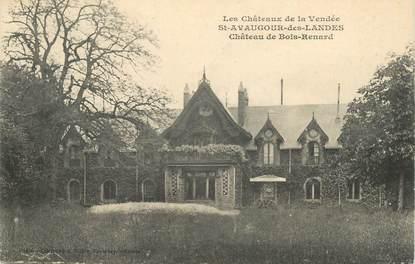 """CPA FRANCE 85 """"Saint Avaugour des Landes, Chateau de Bois Renard"""""""