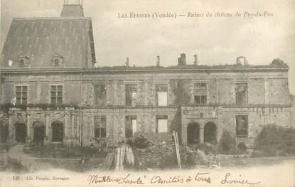 """CPA FRANCE 85 """"Les Epesses, ruines du Puy du Fou"""""""