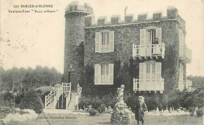 """CPA FRANCE 85 """"Les Sables d'Olonne, chateau Fort Villa d'Hasty"""""""