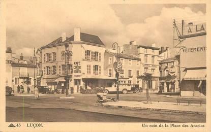 """CPA FRANCE 85 """"Luçon, la place des Acacias"""""""