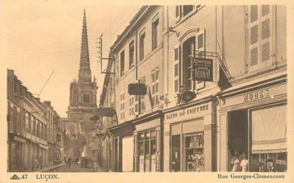 """CPA FRANCE 85 """"Luçon, rue Georges Clémenceau"""""""
